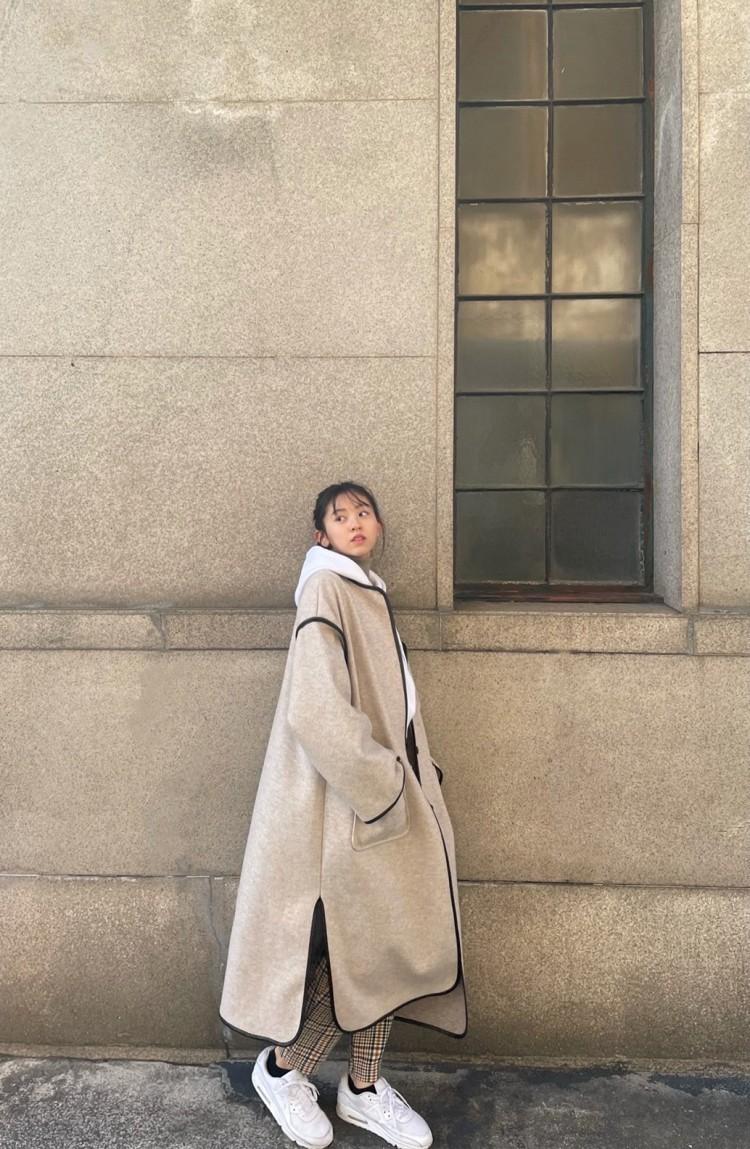 #みさきのしふくすたいる🎠 turtleneck : select shop Parker : いただきもの Bottoms : ZARA coat : GRL🛁 shoes : NIKE